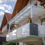 Balkon mit Überdachung