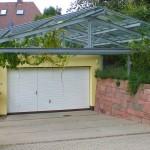 Überdachung für Garageneinfahrt