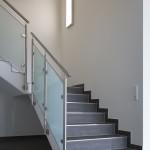 Treppengeländer aus Edelstahl mit Glasfüllung