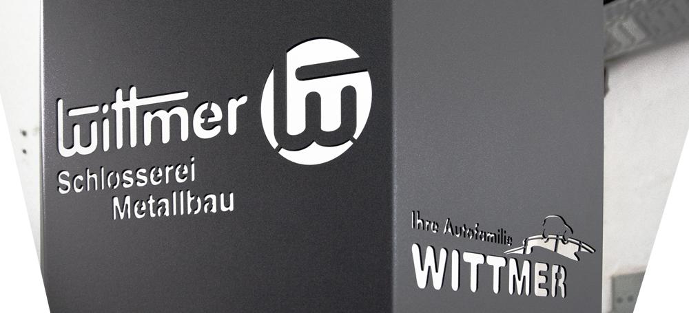 Reklame - Lasergeschnittenes Logo