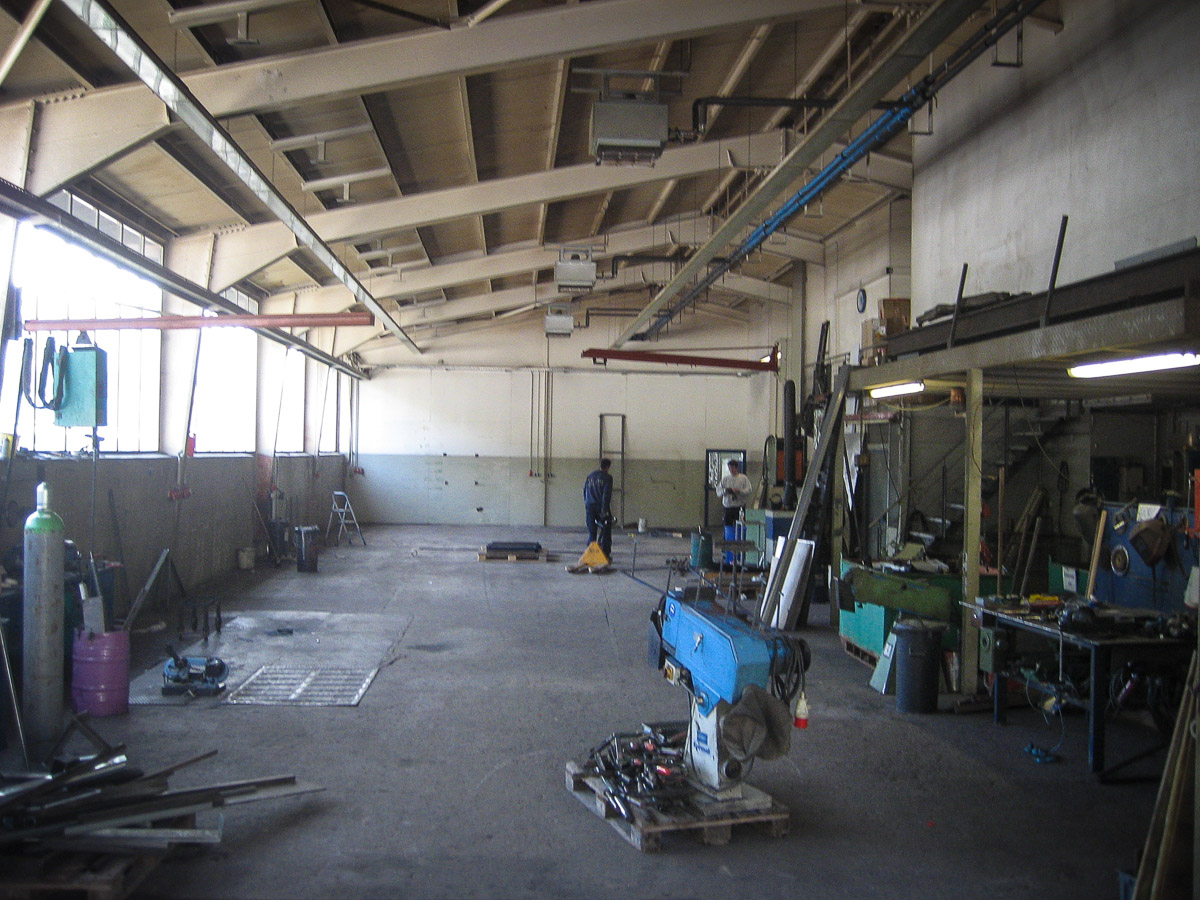 Ehemalige Produktionshalle